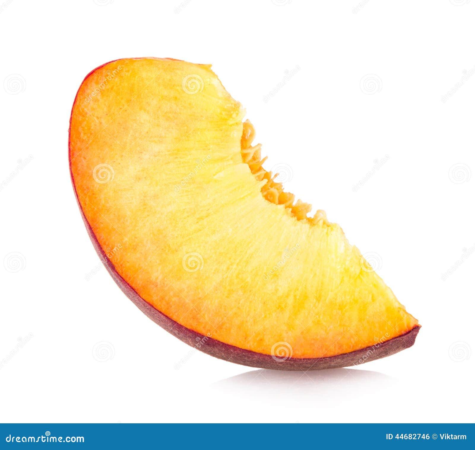 Peach slice stock photo image 44682746