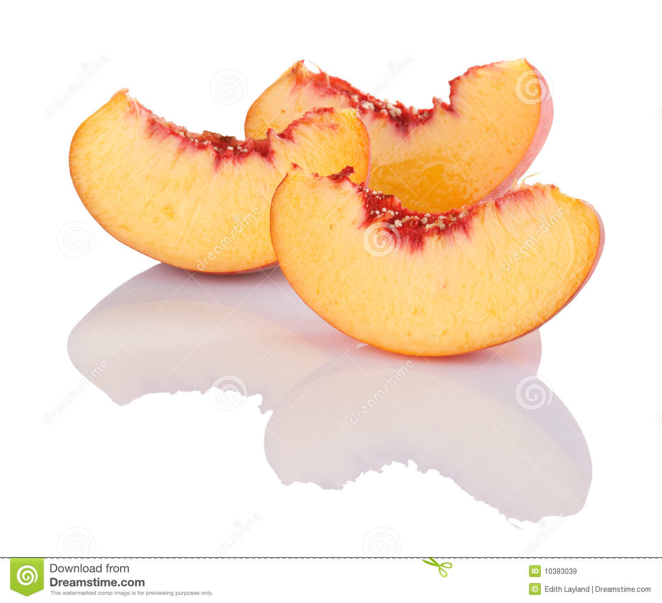 Peach Slices Royalty Free Stock Images - Image: 10383039