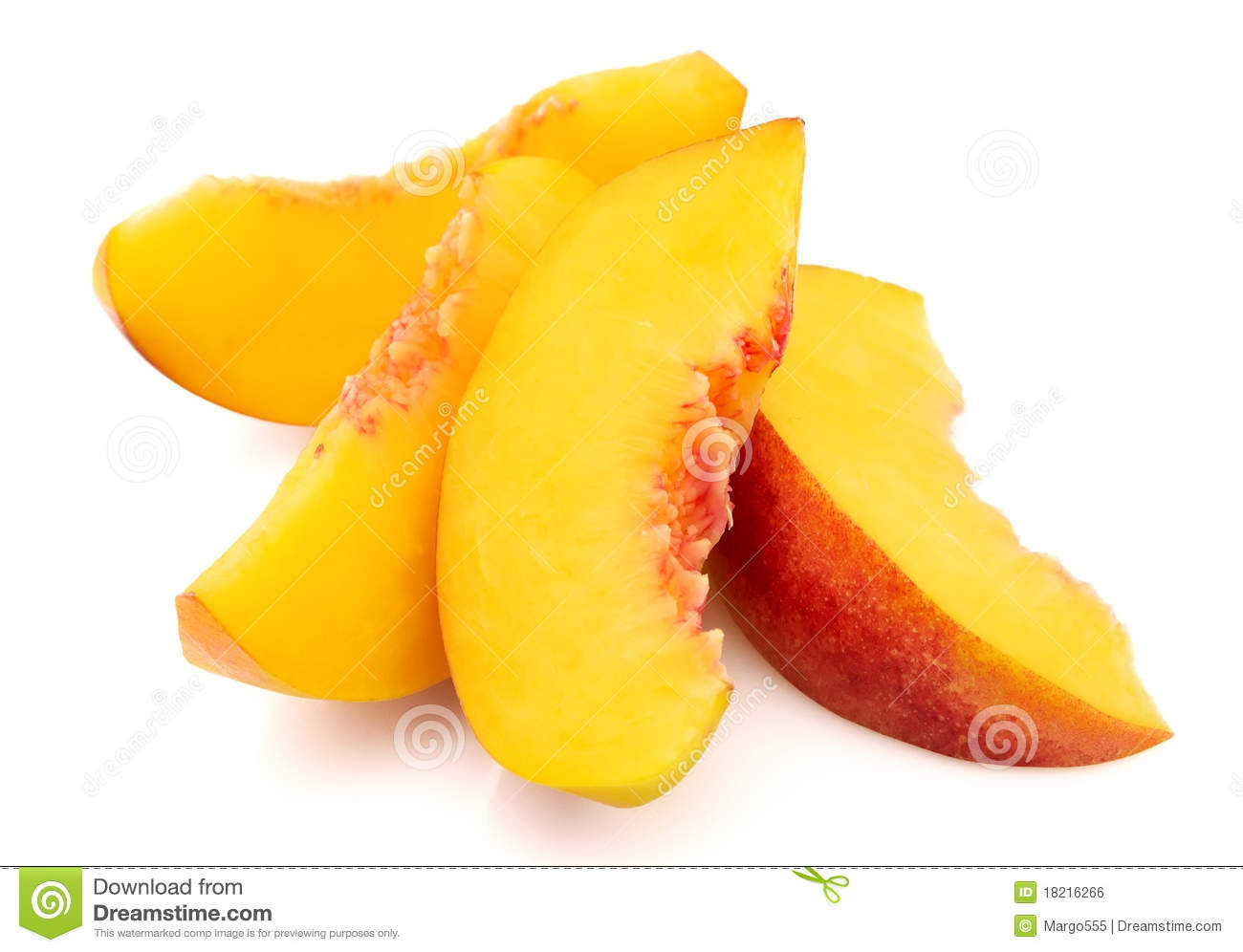 Peach Slices Royalty Free Stock Image - Image: 18216266