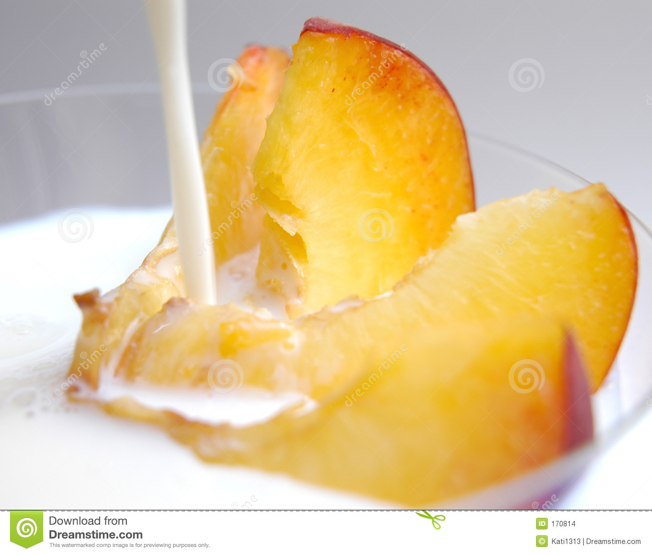 Peach slices with milk II