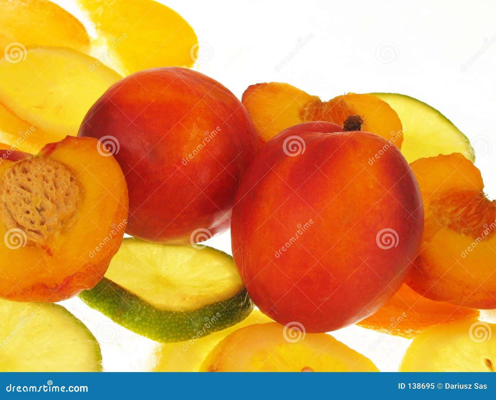 Peaches białe tło