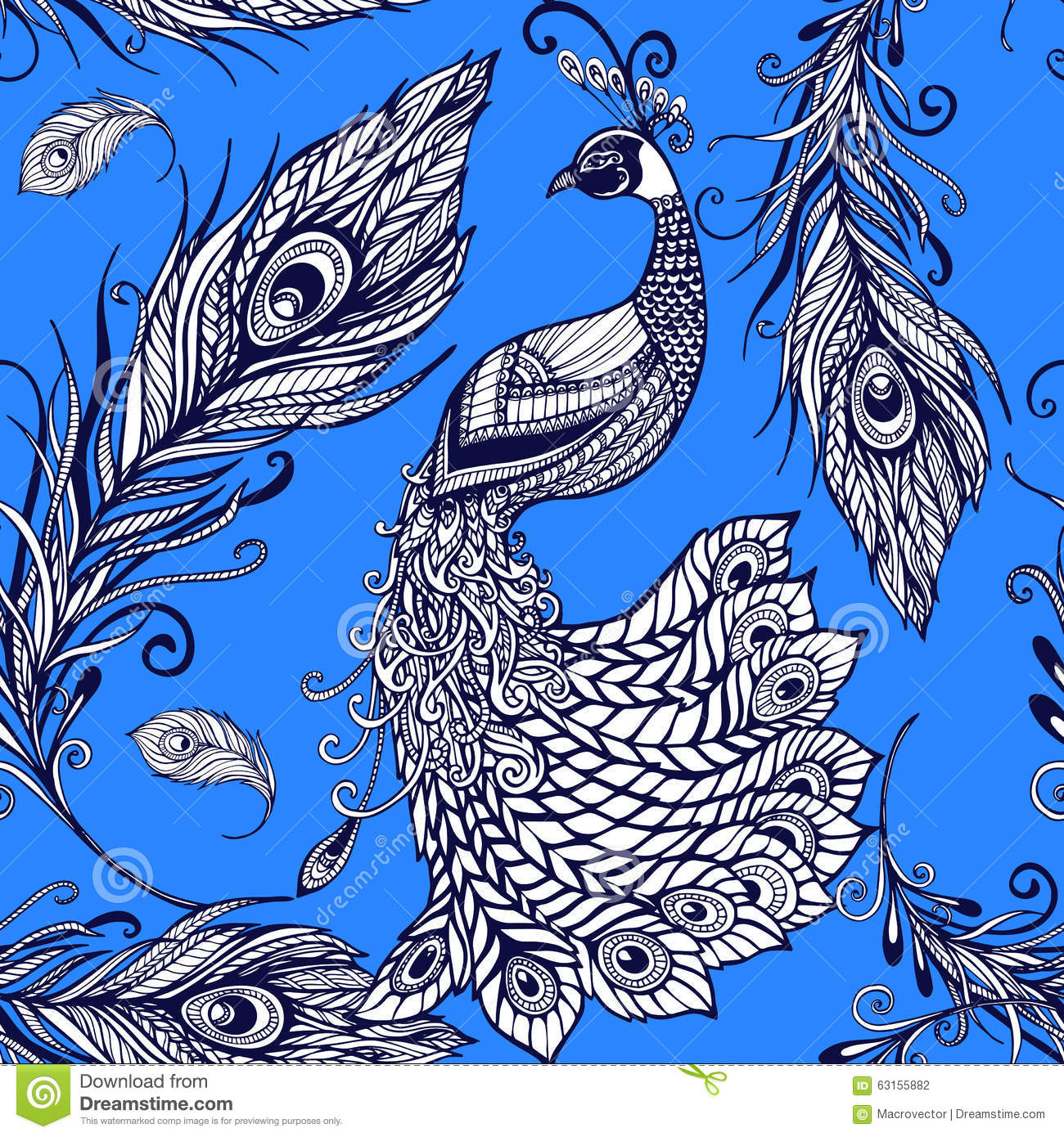 vector abstract peacock seamless - photo #7