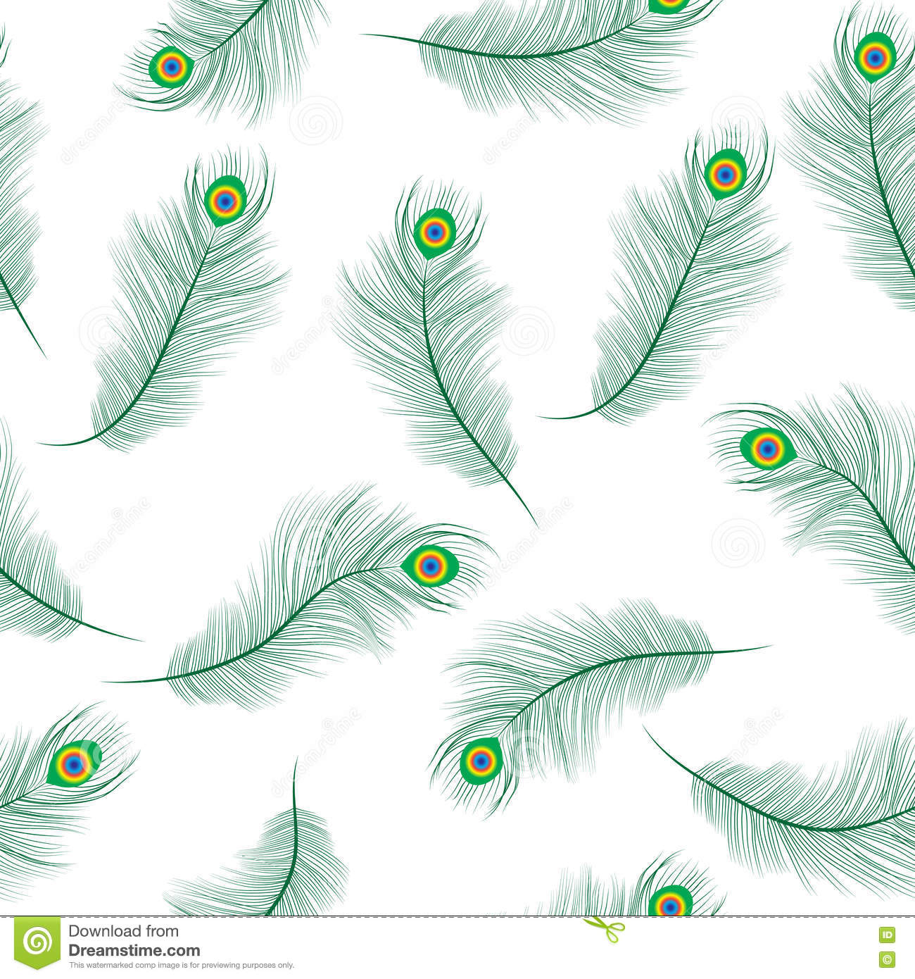 Peacock Feather Seamless Texture, Peacock Feathers