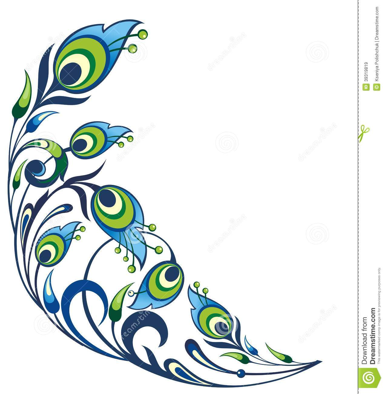 Peacock Feathers Background Stock Vector - Image: 39319819