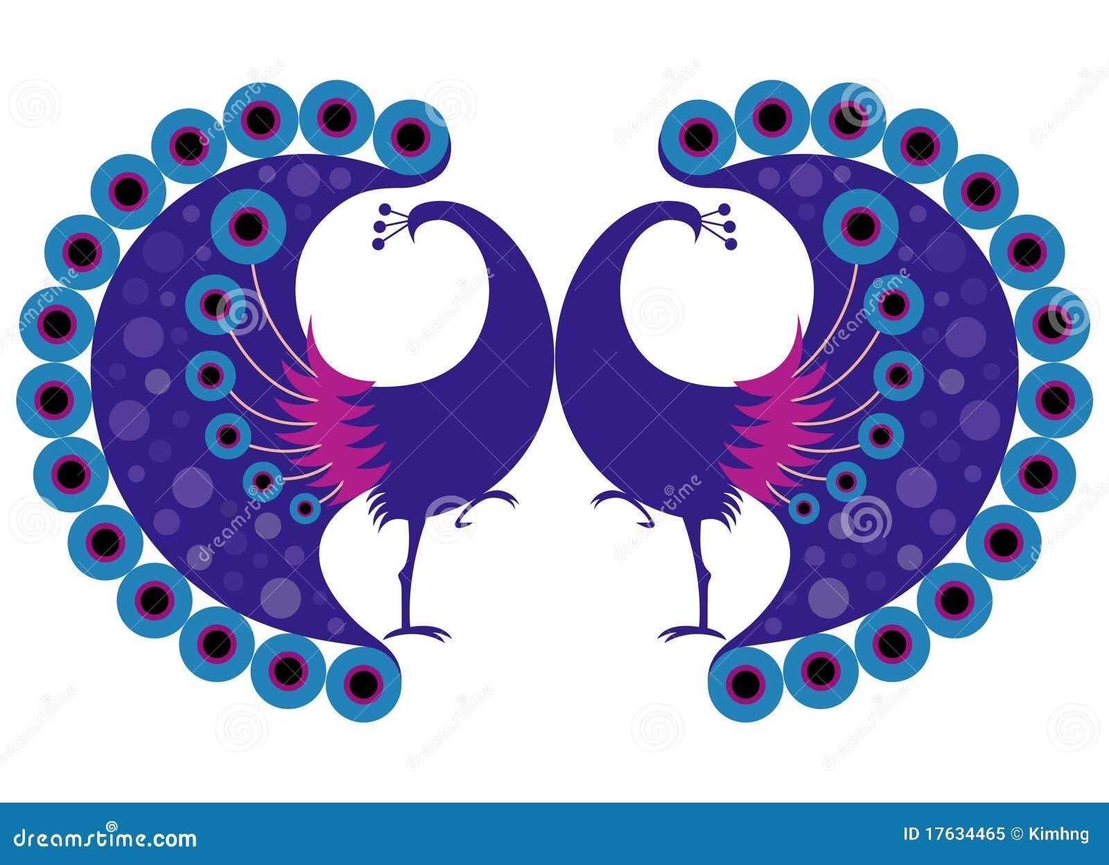 Peacock Motif Stock Vector Illustration Of Illustration 17634465