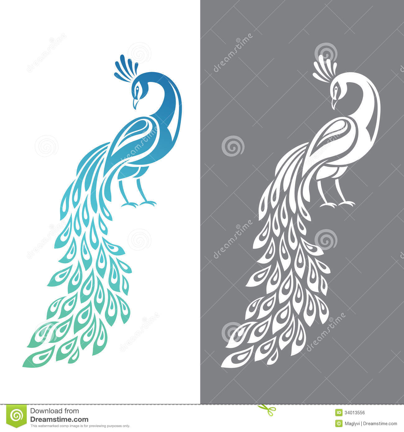 Peacock stock vector. Illustration of colorful, tail ...