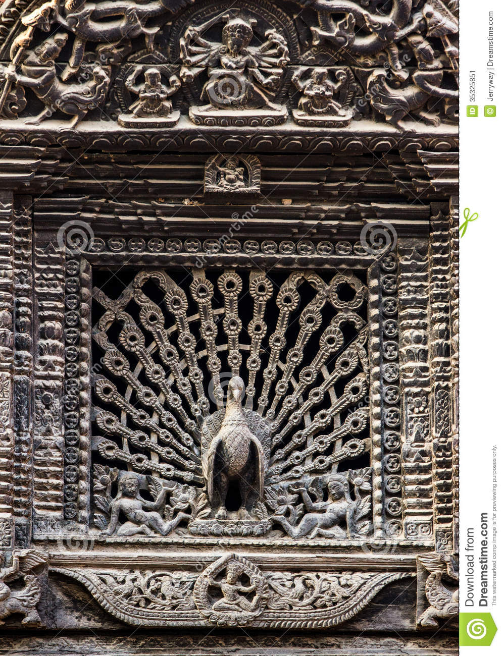 Peacock window kumari ghar durbar square kathmandu for Window design in nepal