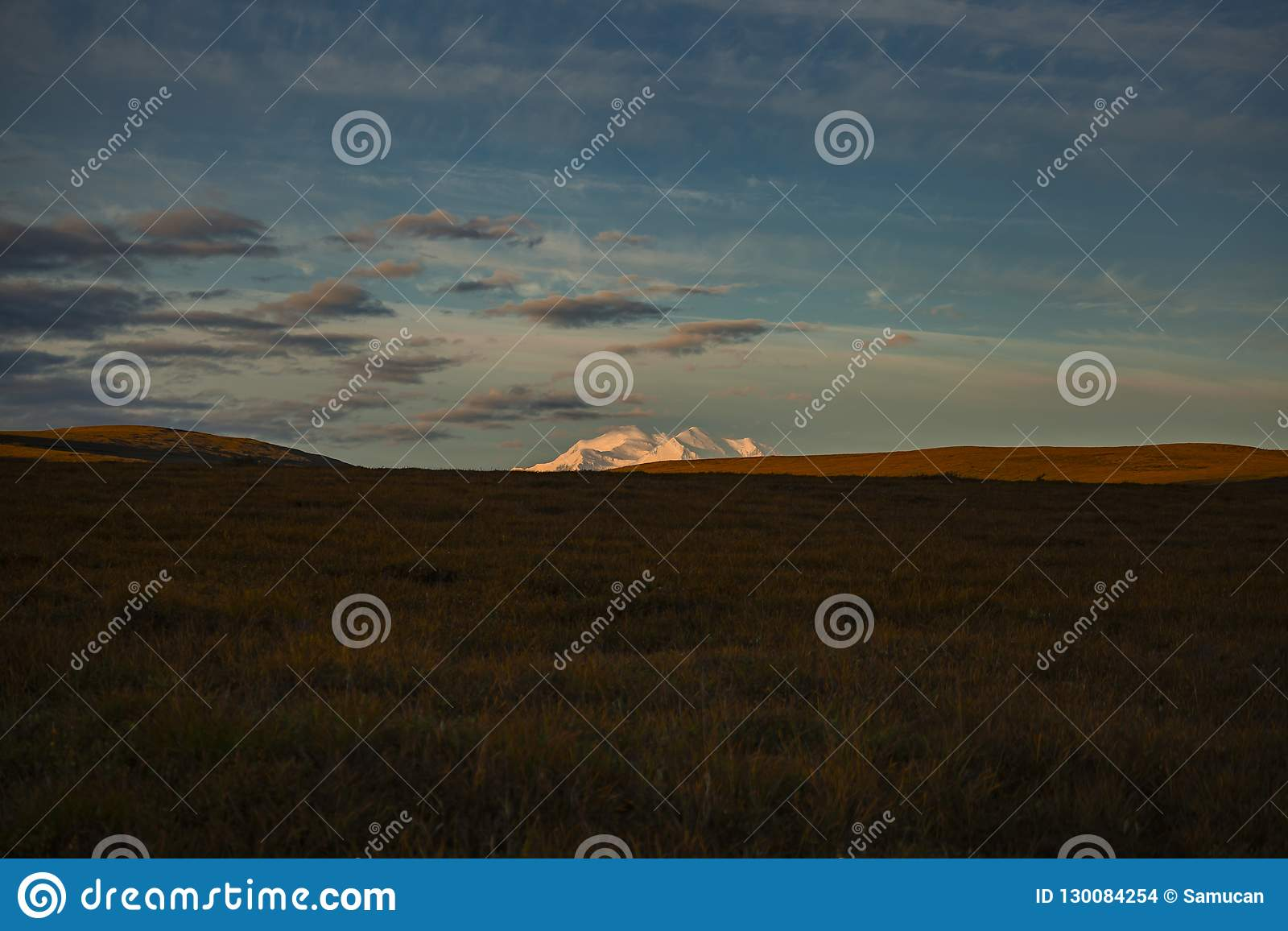 Peak of Denali in the early Morning