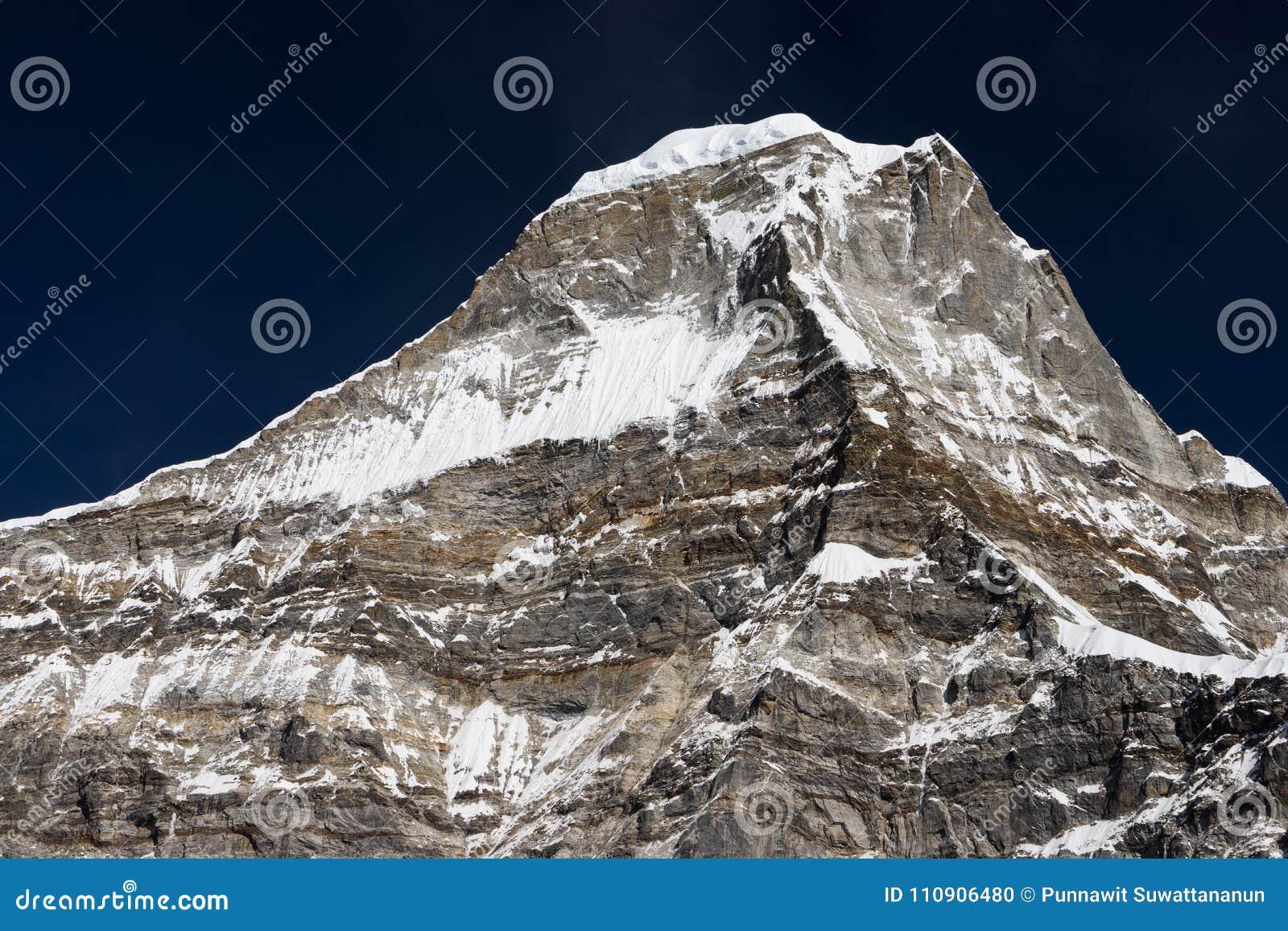 Peak43 or Kyashar in Mera region, Himalaya mountain range, Nepal