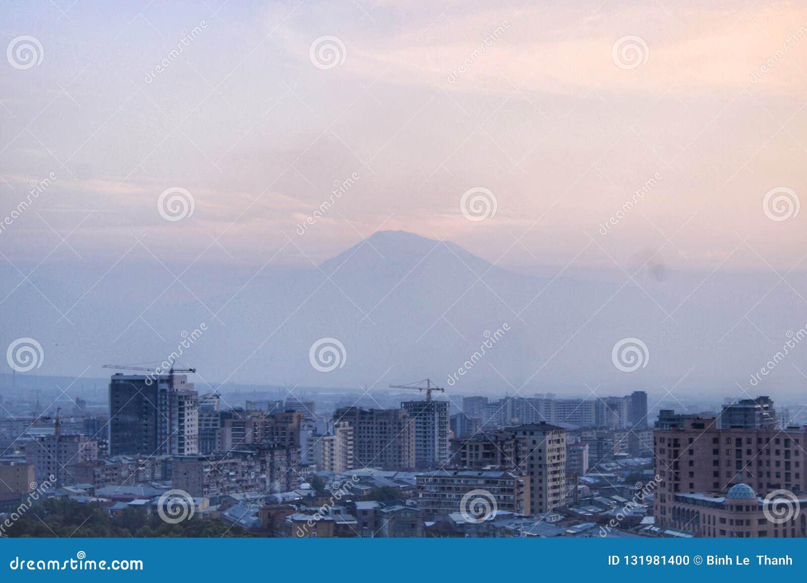 The peak of the mount Ararat