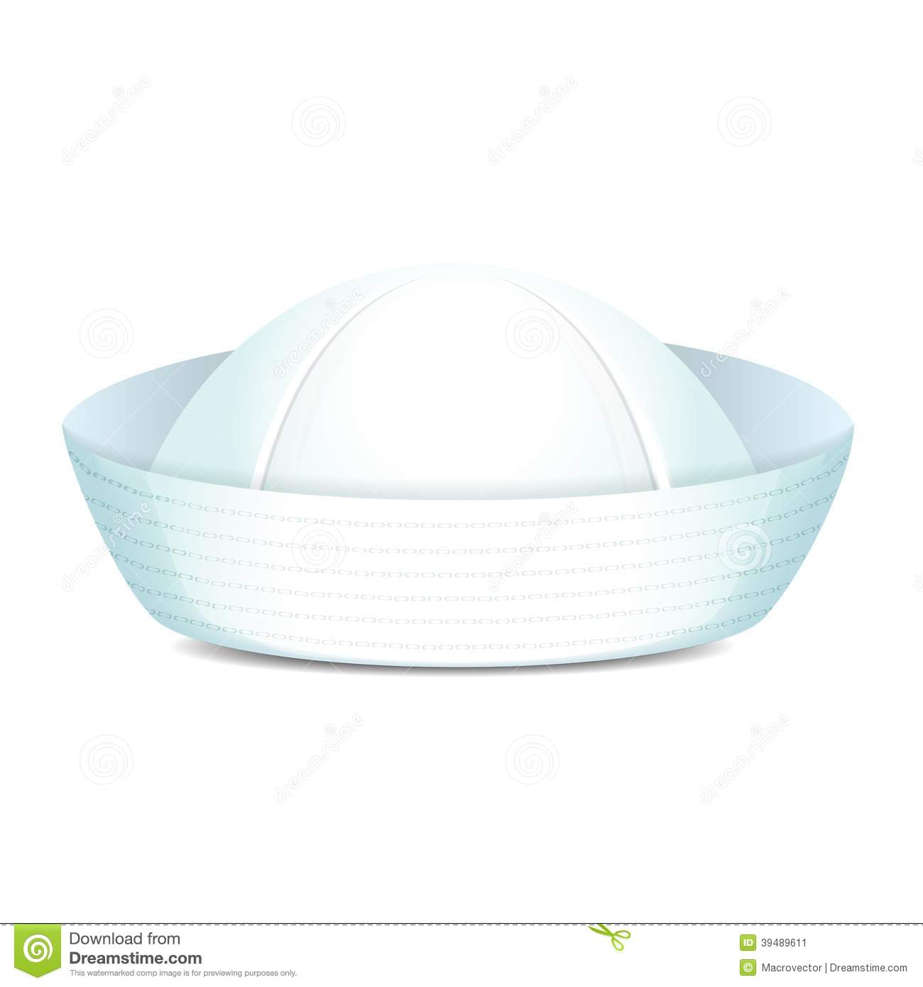Peaked Sailor Hat Stock Vector - Image: 39489611 White Anchor Clip Art
