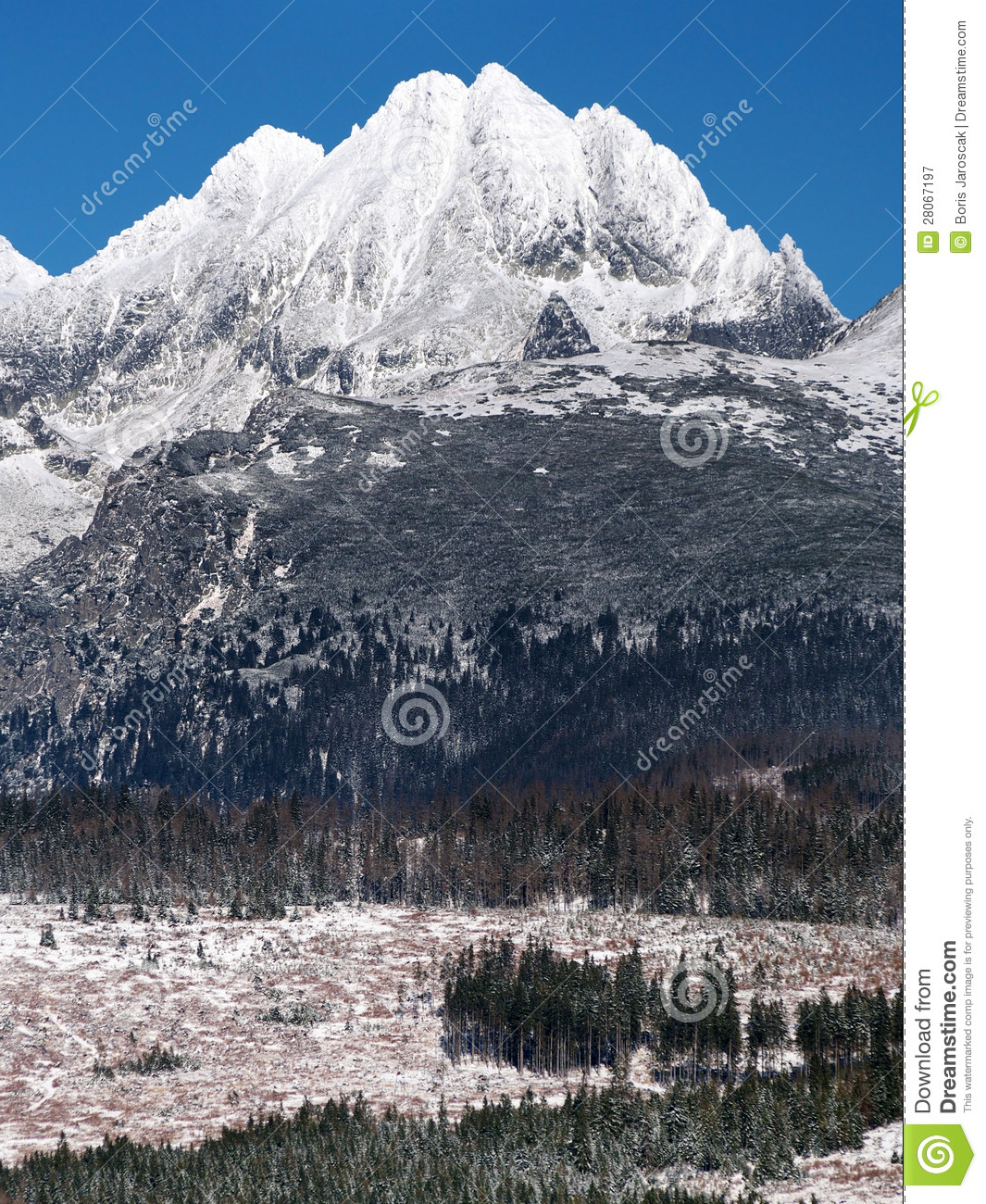 Peaks of High Tatras in winter