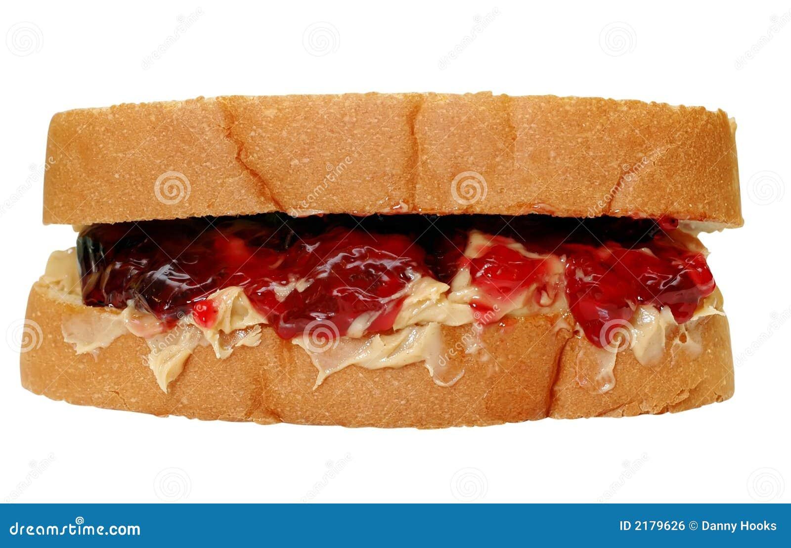 Peanut Butter & Jelly Sandwich Royalty Free Stock Image ...