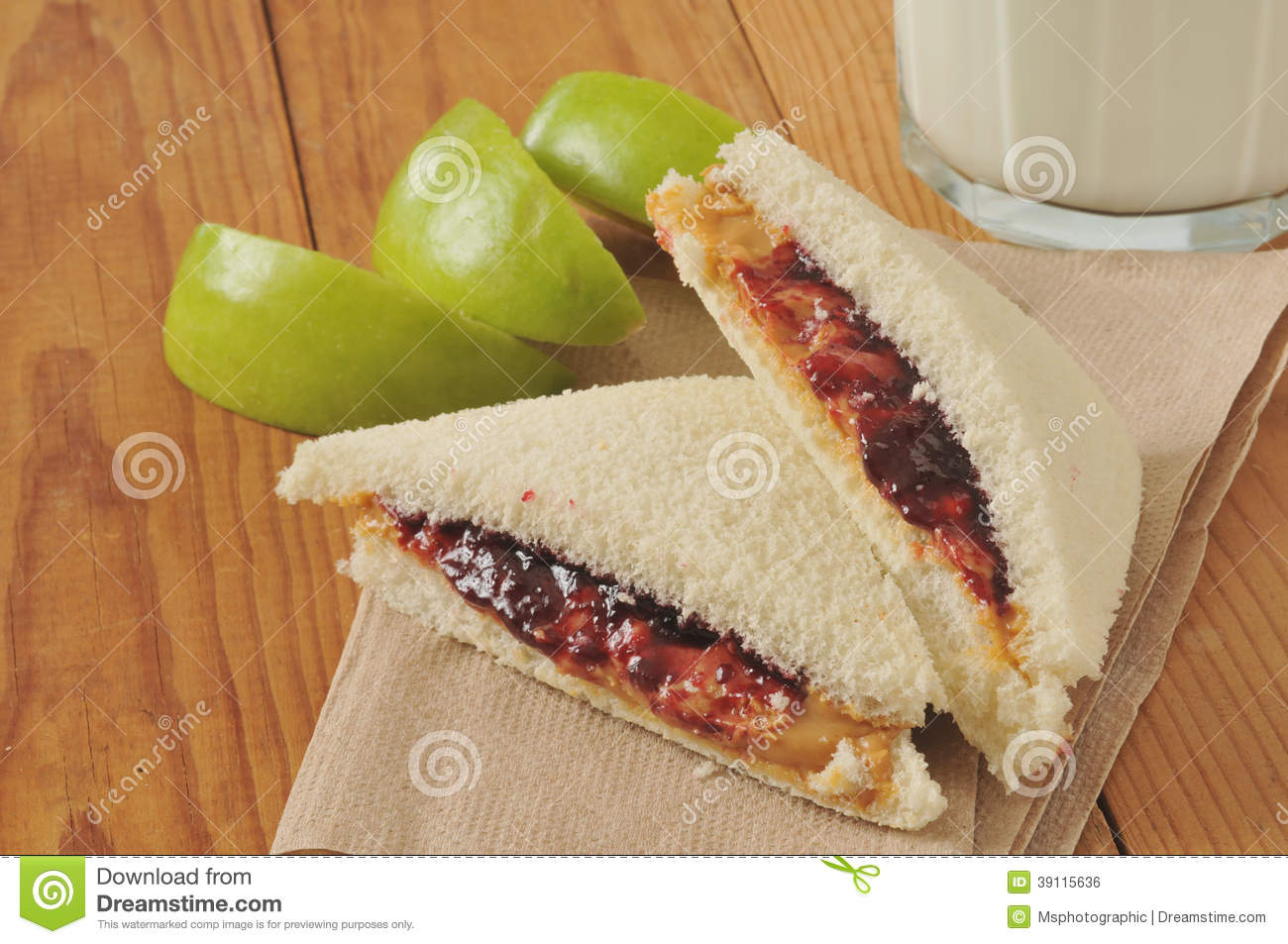 Jack off with peanut butter sandwich