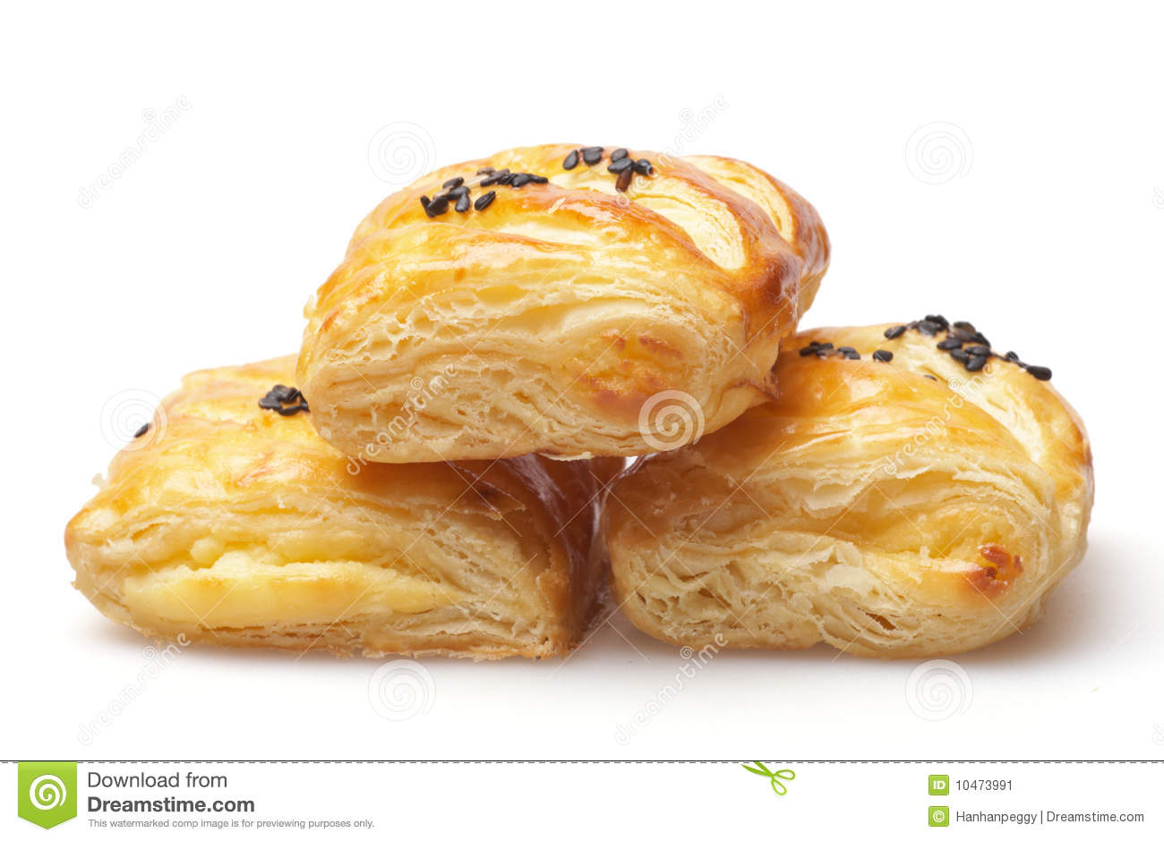 Peanut Butter Puff Pastry Stock Image - Image: 10473991