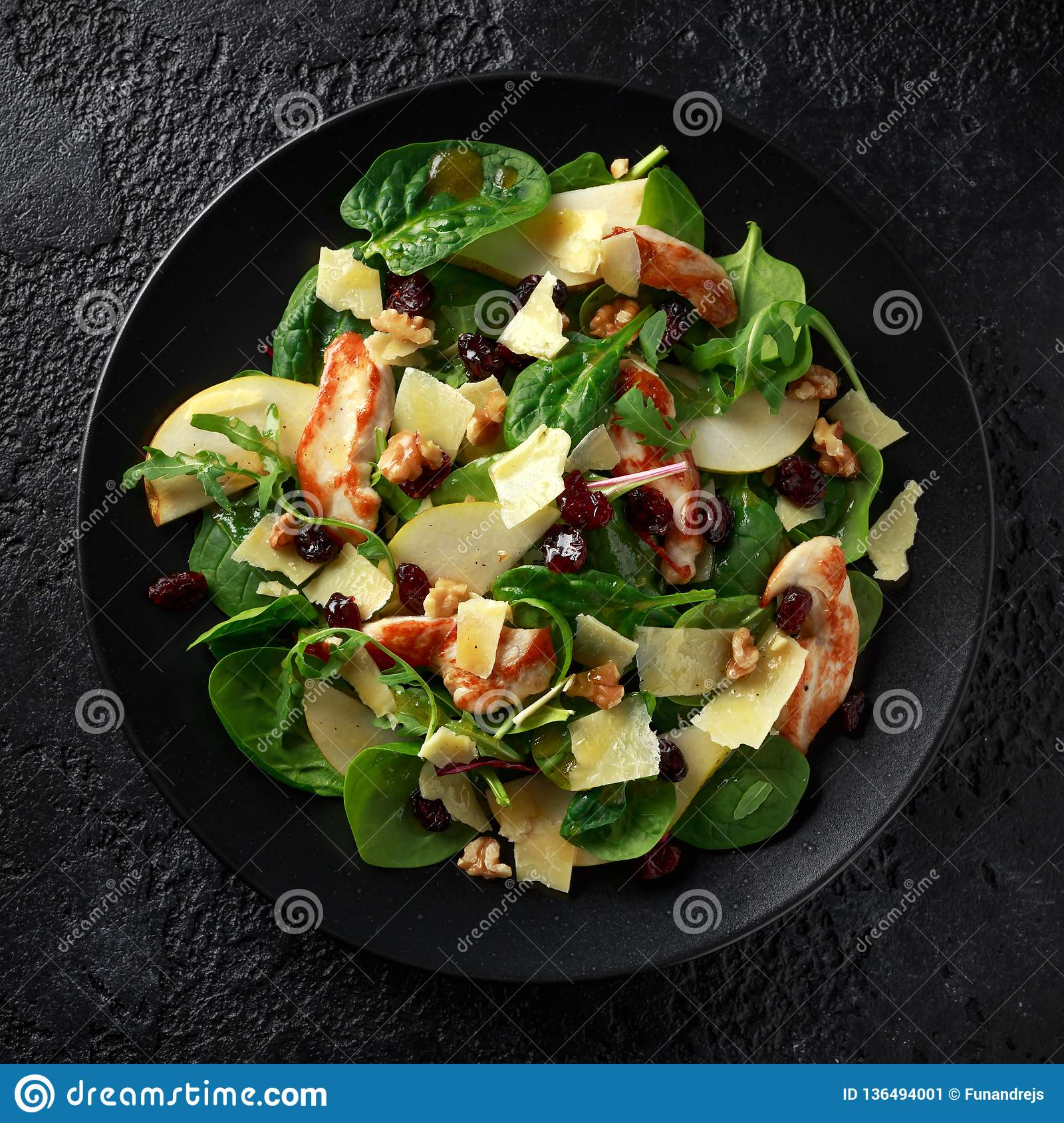 Pear, Chicken Salad With Cheddar Cheese, Cranberry And