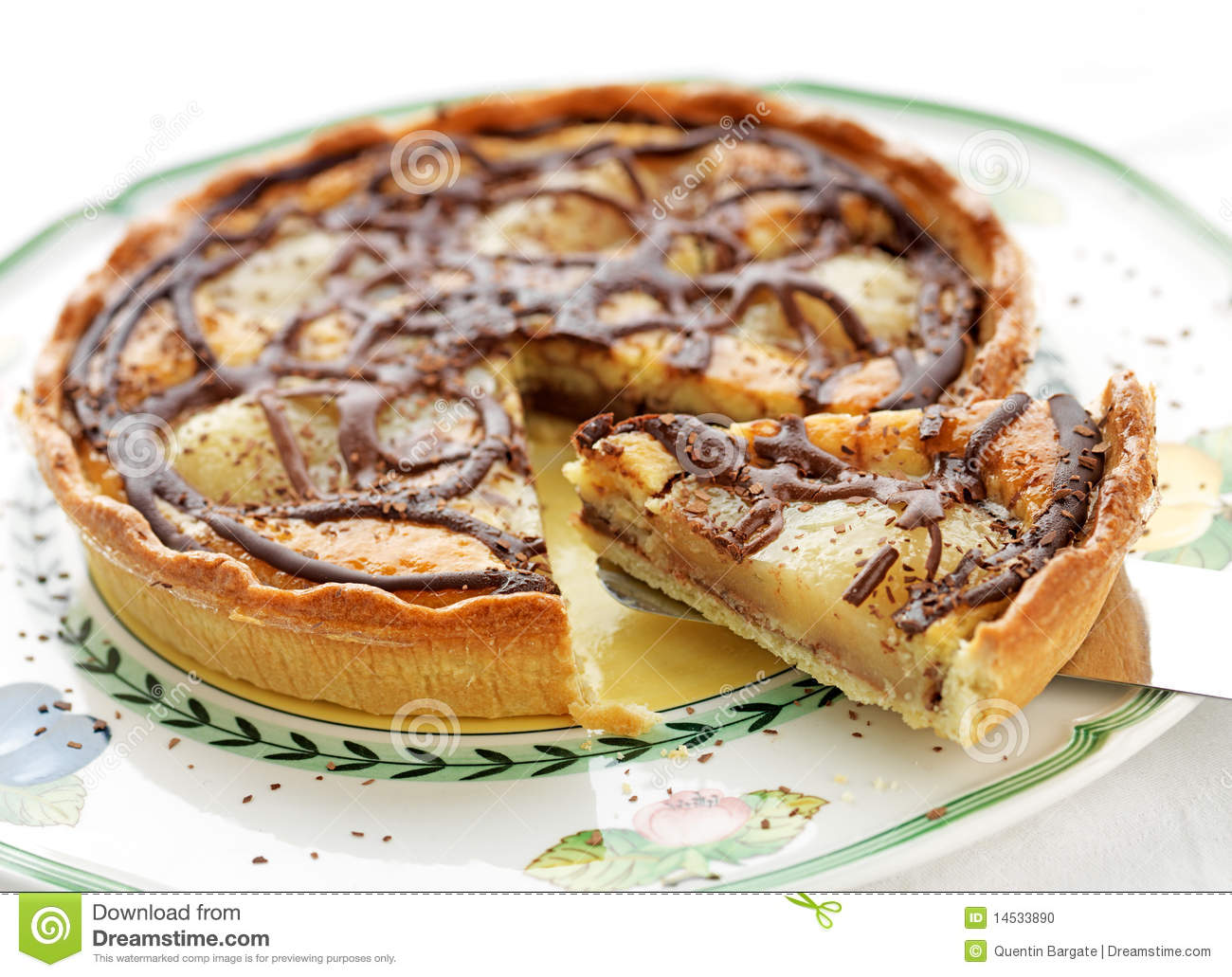 Pear And Chocolate Tart Stock Photo - Image: 14533890