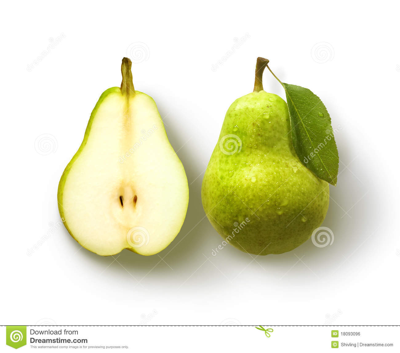 Pear And Half Pear Royalty Free Stock Image - Image: 18093096