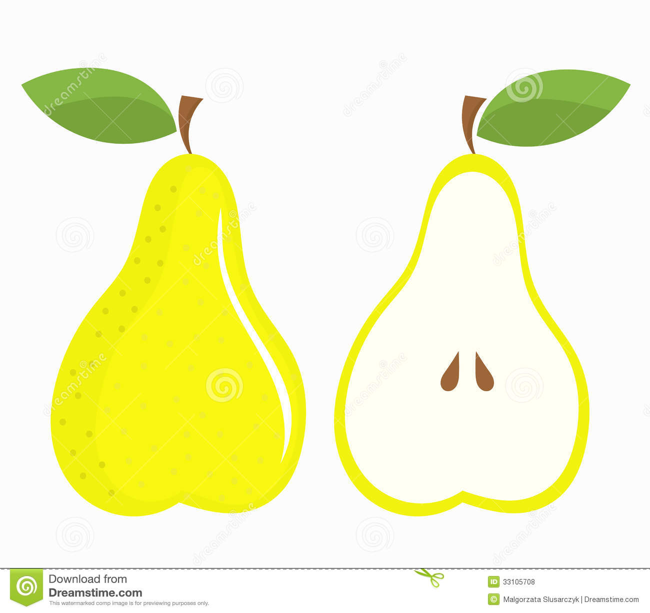 Pear Half And Whole Ro...