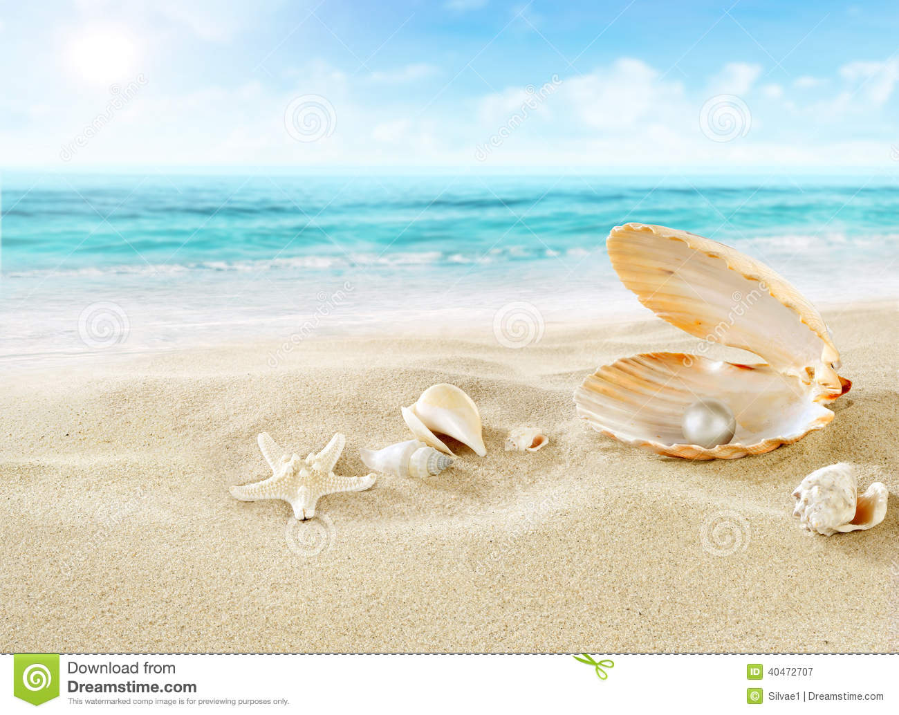 Pearl On The Beach. Stock Photo - Image: 40472707