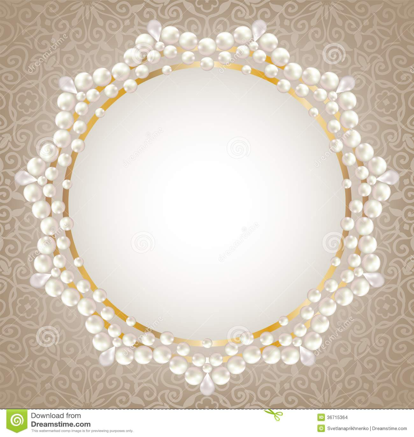 Pearl frame stock vector. Illustration of design, pattern - 36715364