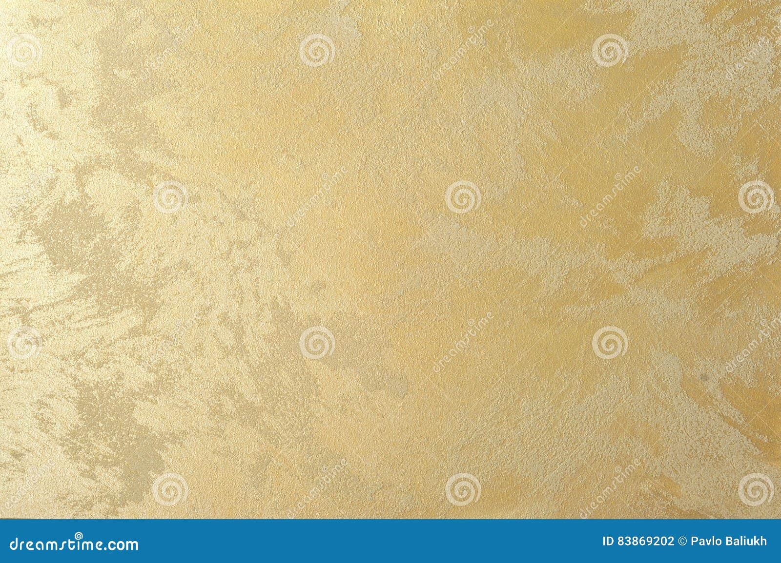 Pearl Golden Effect Decorative Plaster Art Background Stock Photo ...