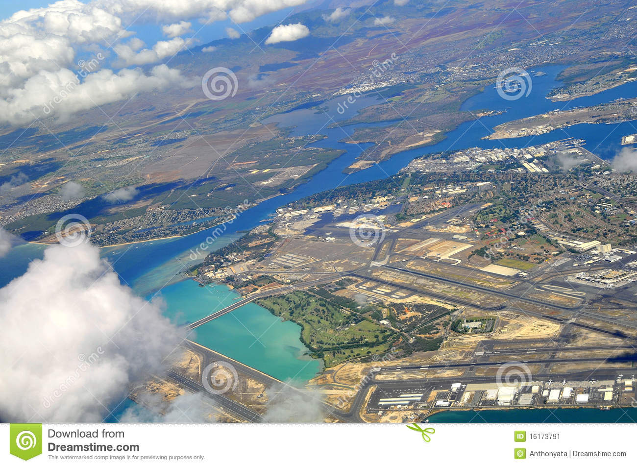 a description of pearl harbor as an inlet of the island of oahu Pearl harbor uss shaw exploding in the attack on pearl harbor december 7,  an almost landlocked inlet of the pacific on the s coast of the island of oahu,.
