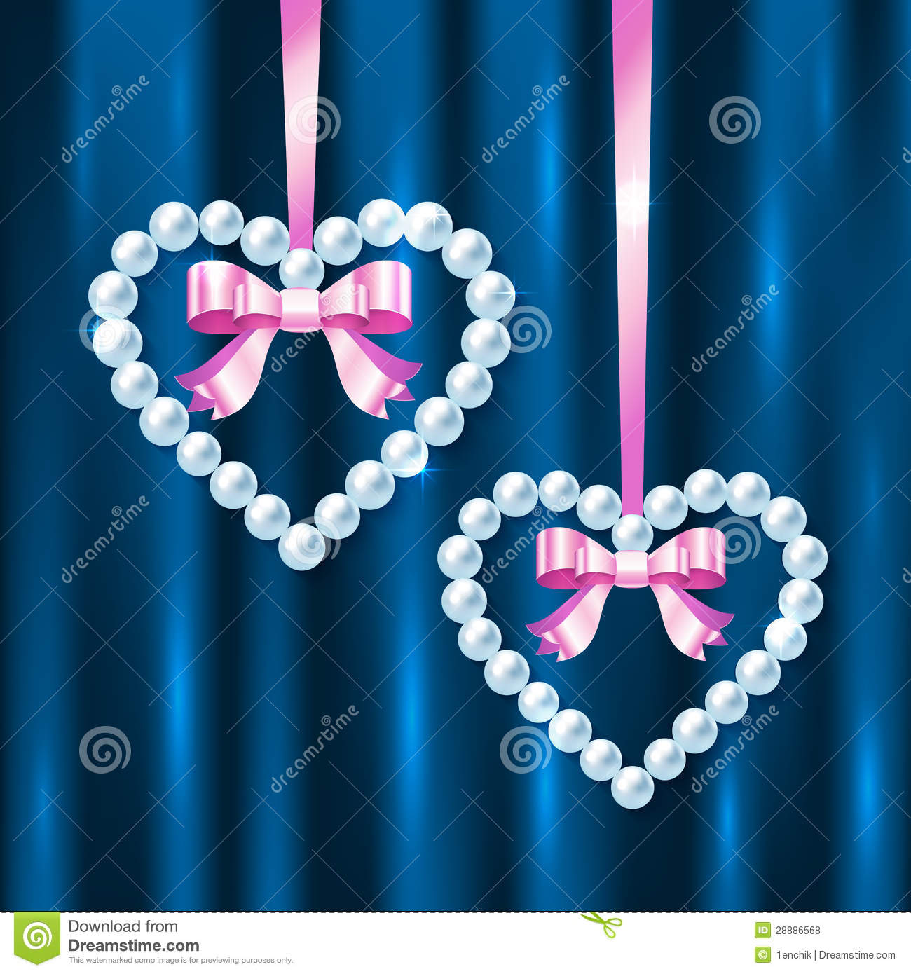 It is a photo of Witty Hearts With Bows