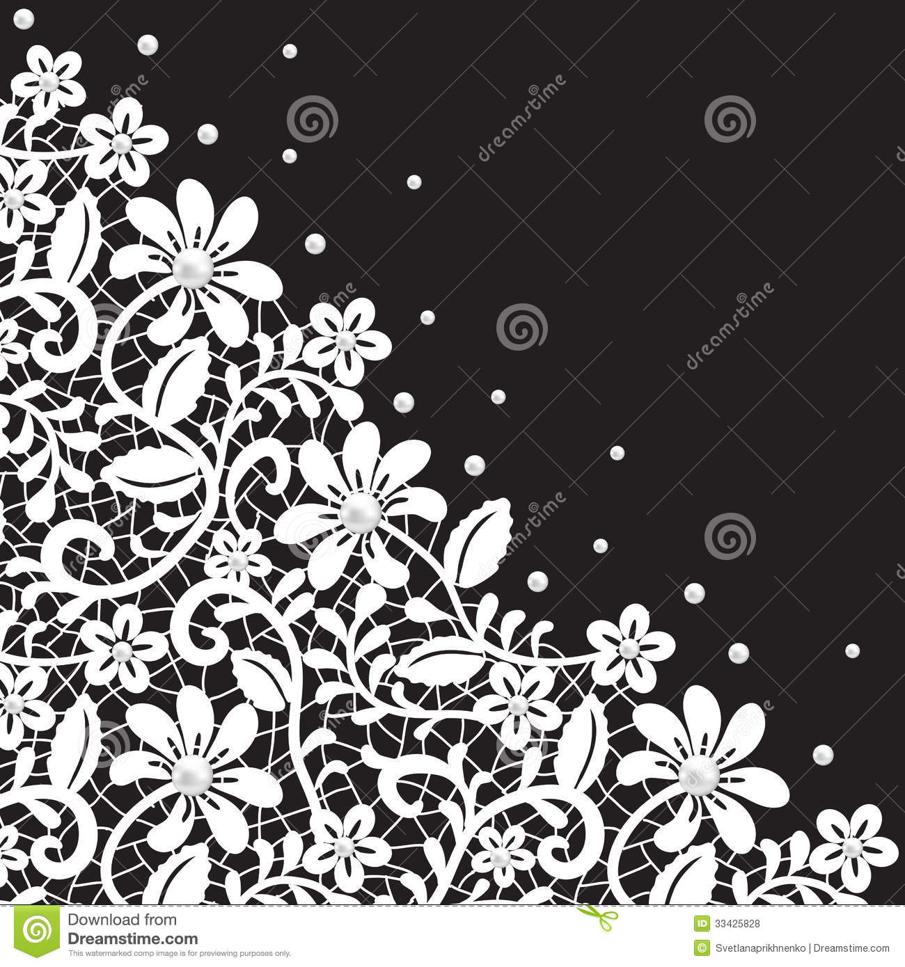 Pearl And Lace Border Royalty Free Stock Photos - Image ...