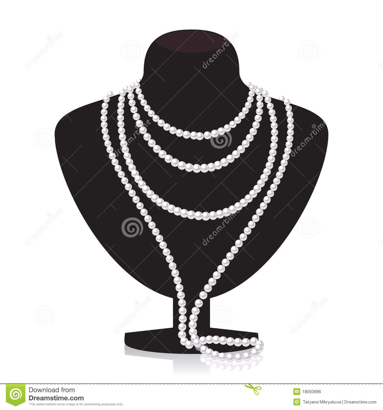 Pearl Necklace On Blac...