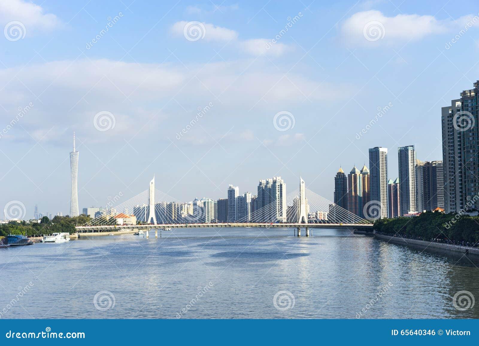 Pearl River et bâtiments