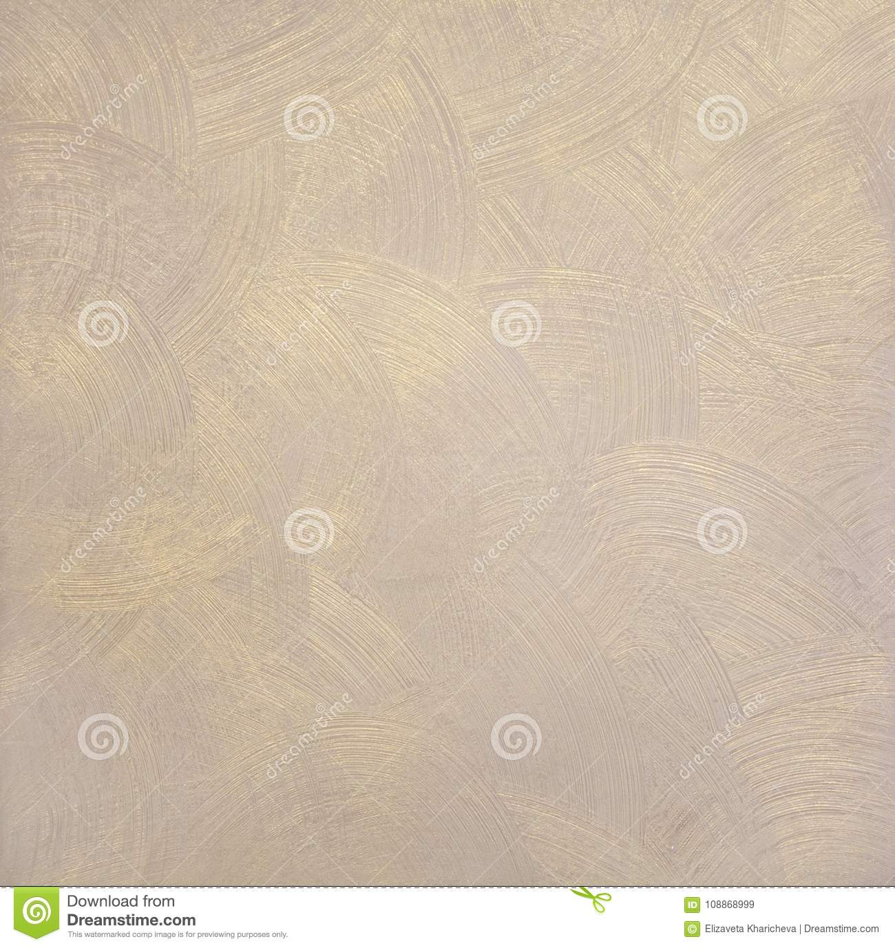 pearlescent texture of paint with round divorces beige color with