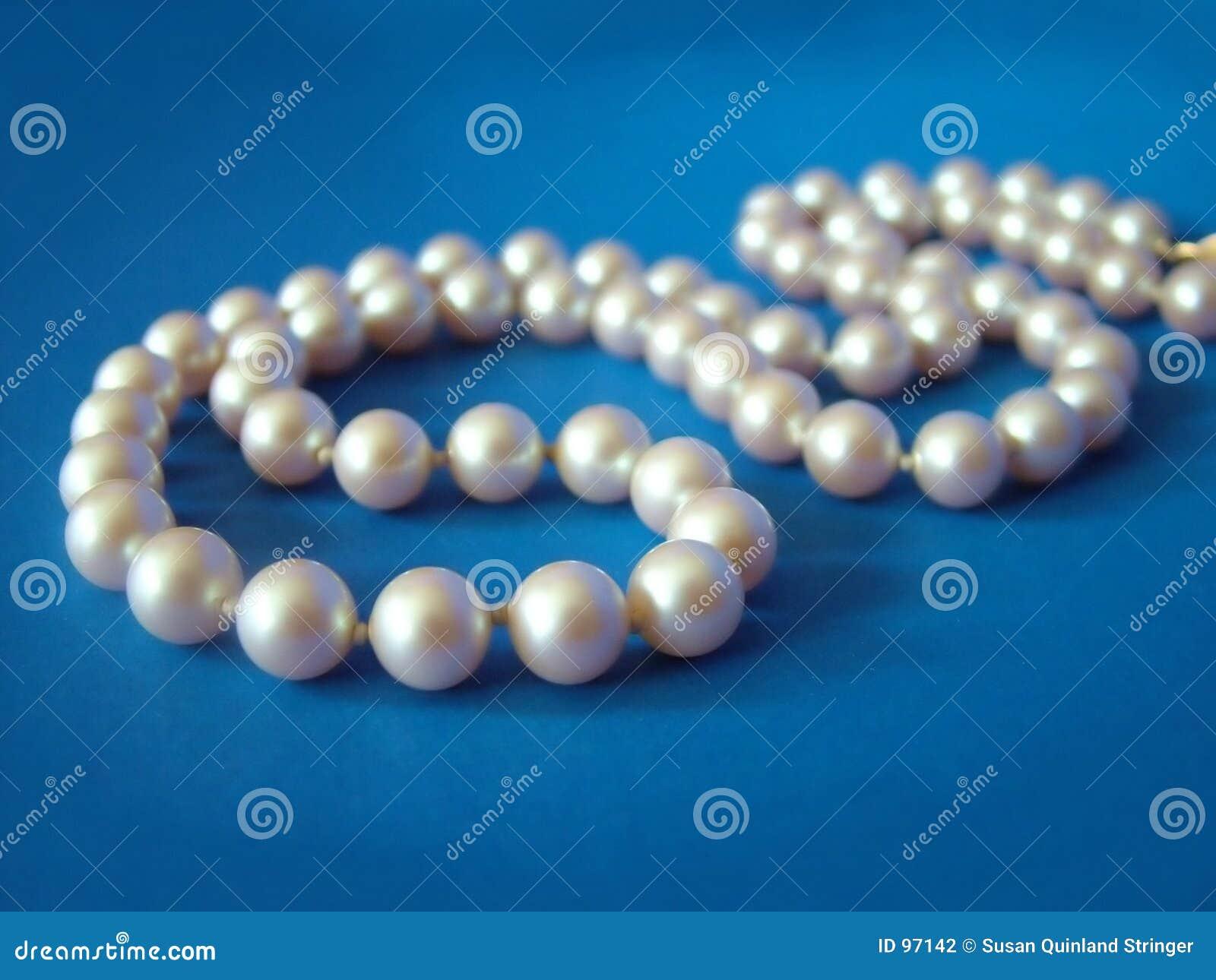 Pearls on Blue