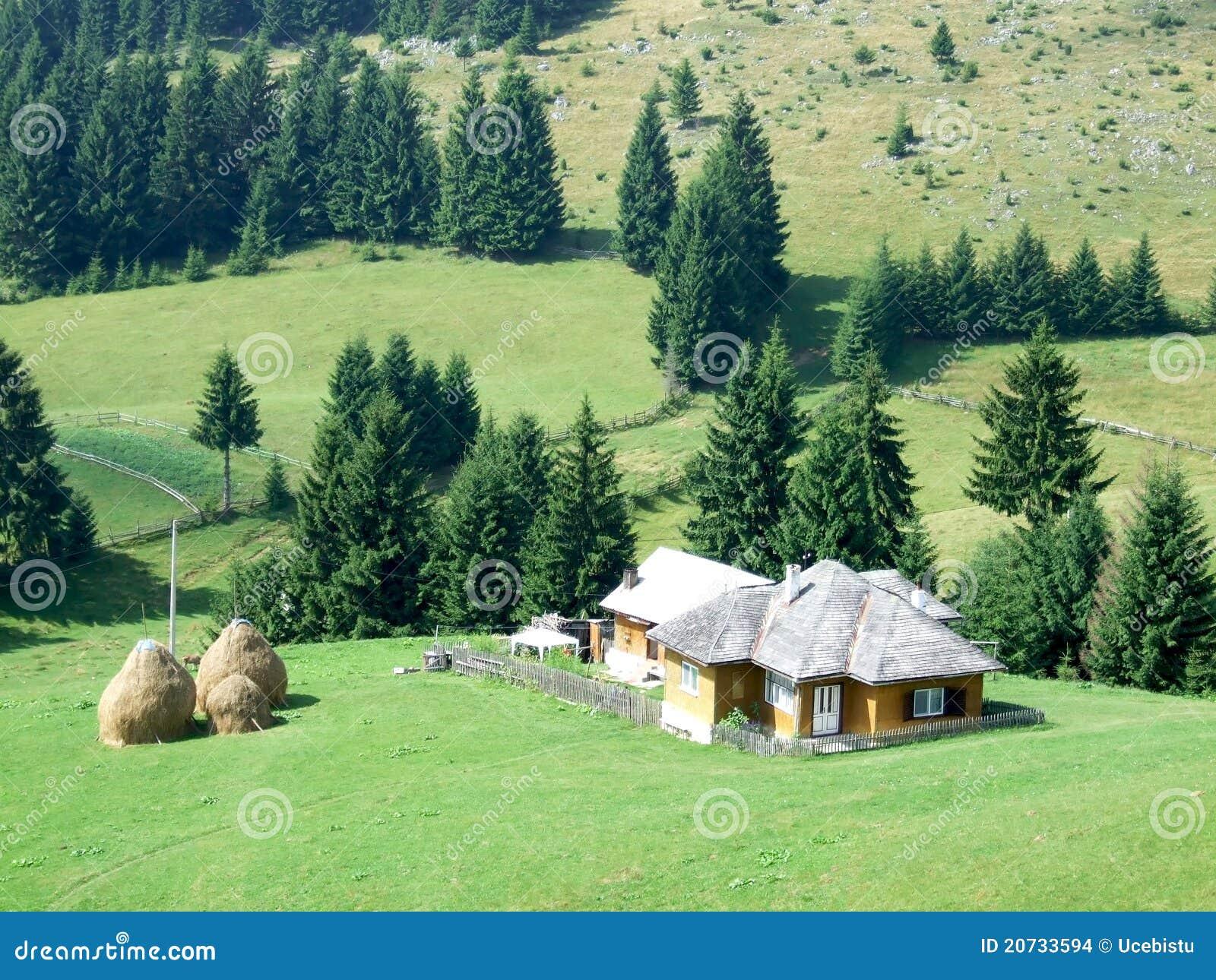 Peasant house stock photo image of romania landscape 20733594 - Romanian peasant houses ...