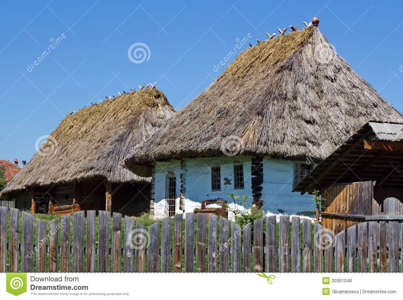 Peasant houses royalty free stock photos image 20301048 - Romanian peasant houses ...