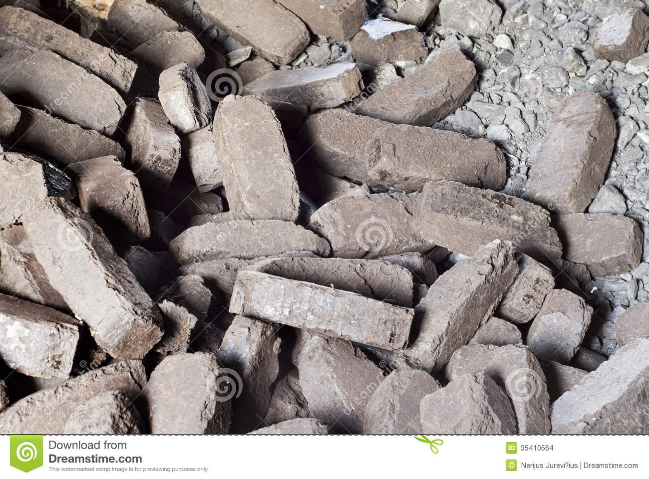 Peat briquettes background