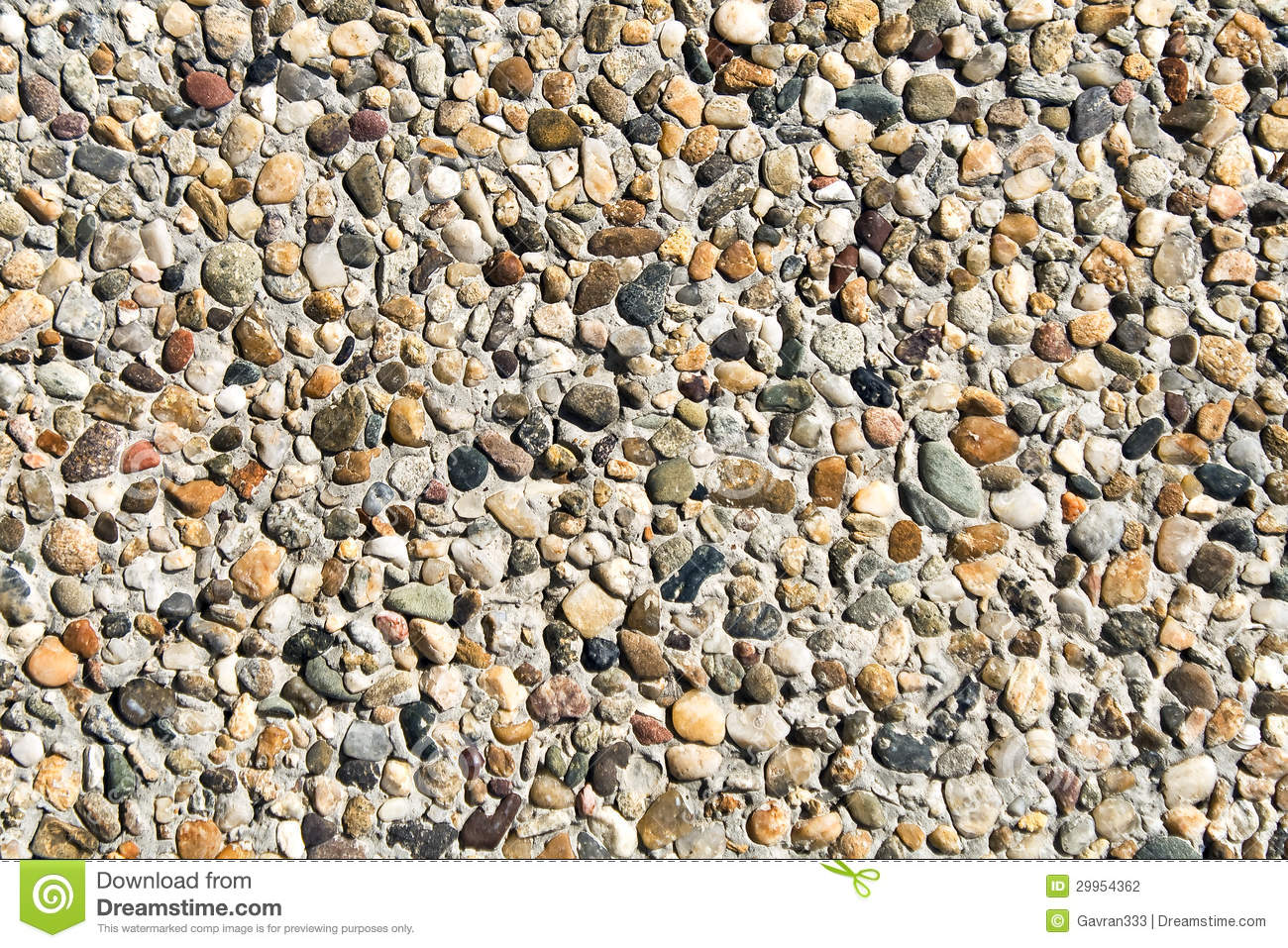 Pebble Cement Wall Background Stock Photo Image 29954362