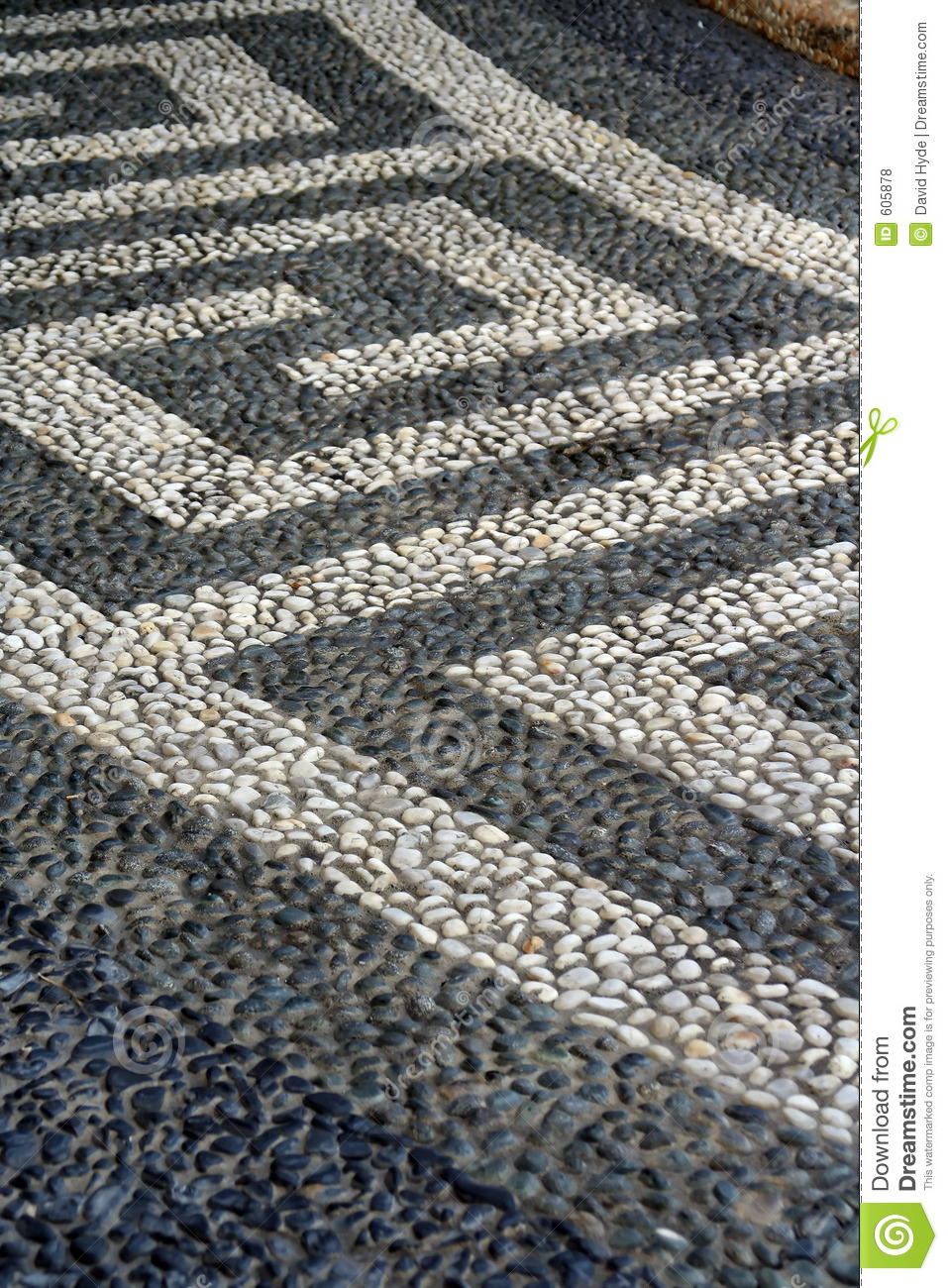 Pebble Pathway Stock Photo Image Of Rock Garden Laid