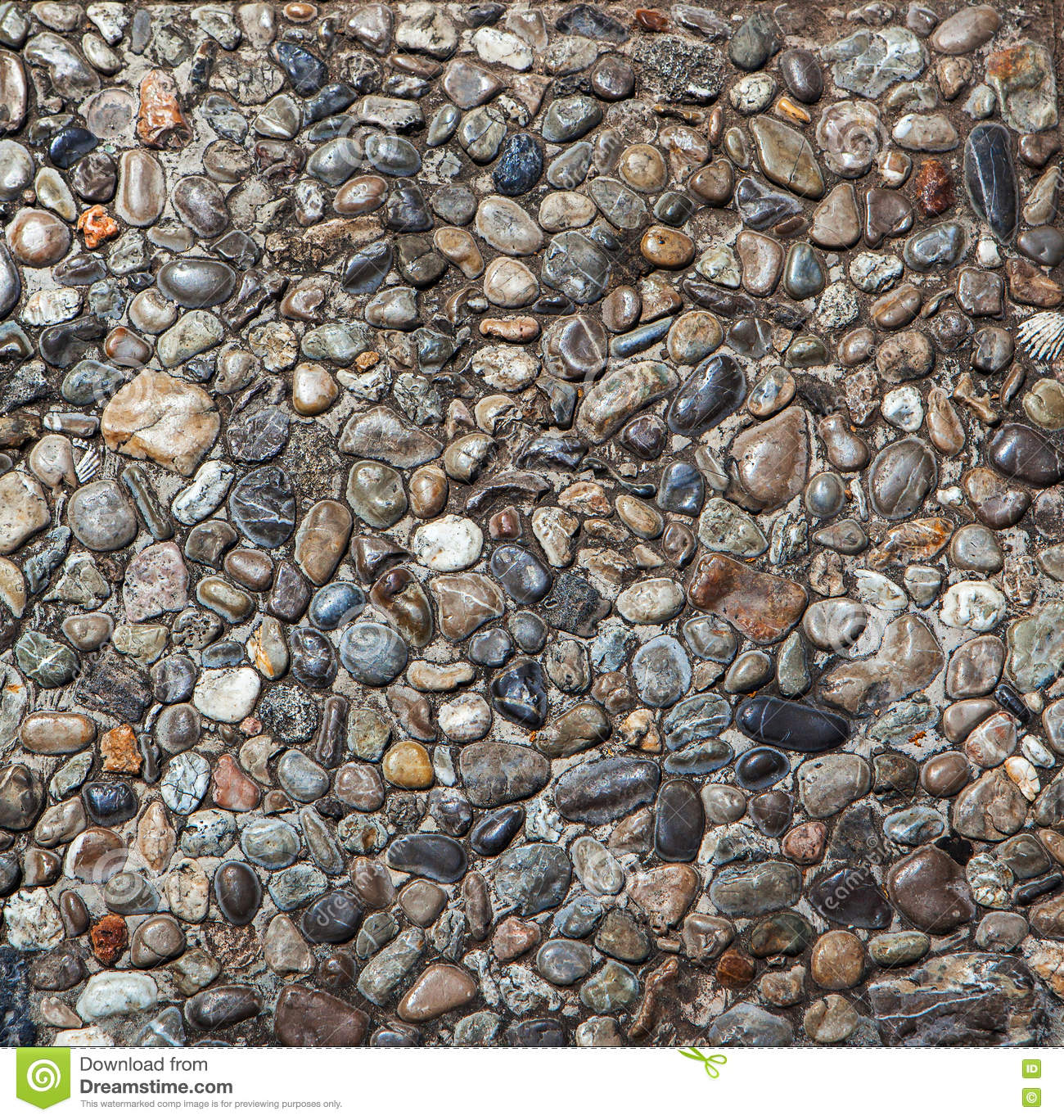 Pebble Stone Floor Tile Texture And Seamless Background Stock Photography