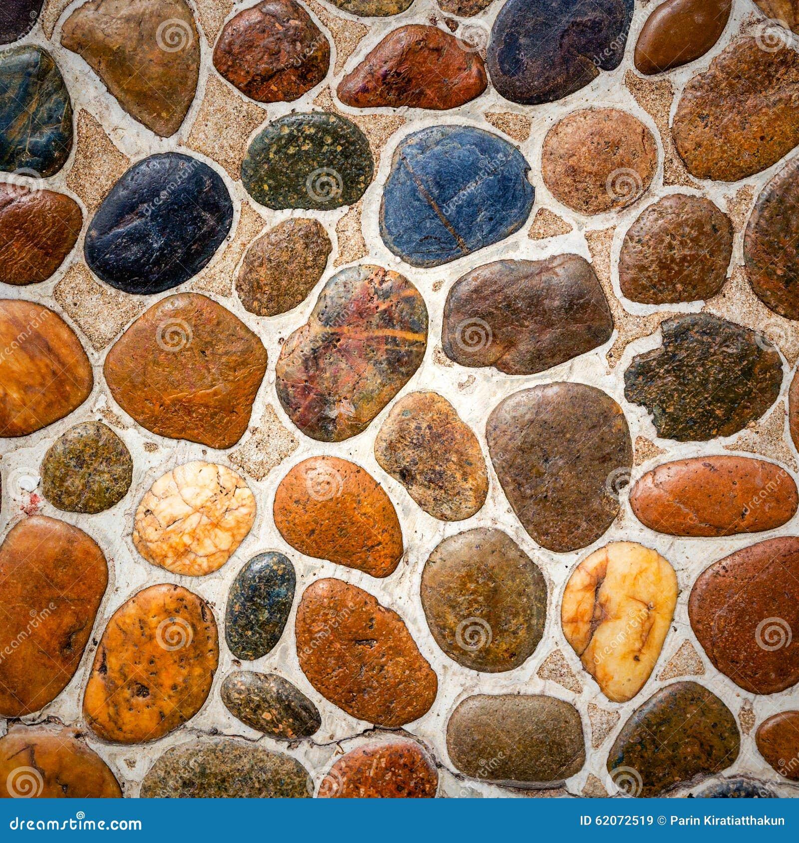 Pebble Stone Floor Tile Texture Stock Image - Image of cobblestone