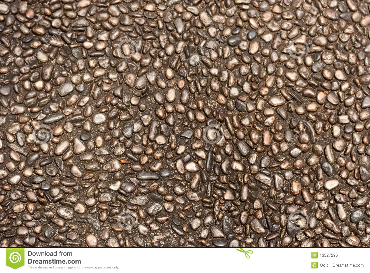 Pebble Stone Flooring Pavement Texture Background