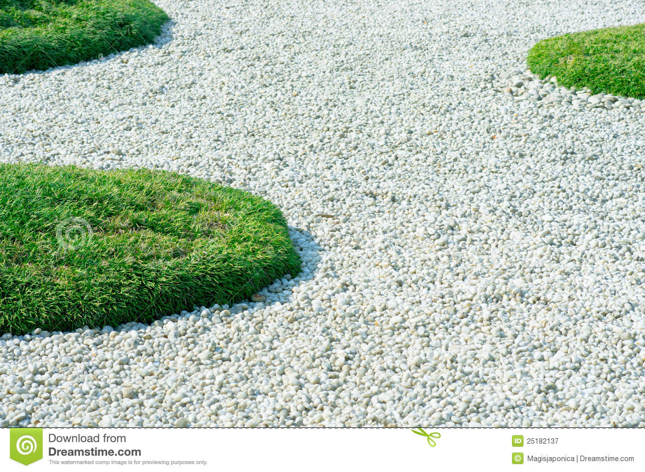 Pebbles And Grass Royalty Free Stock graphy Image