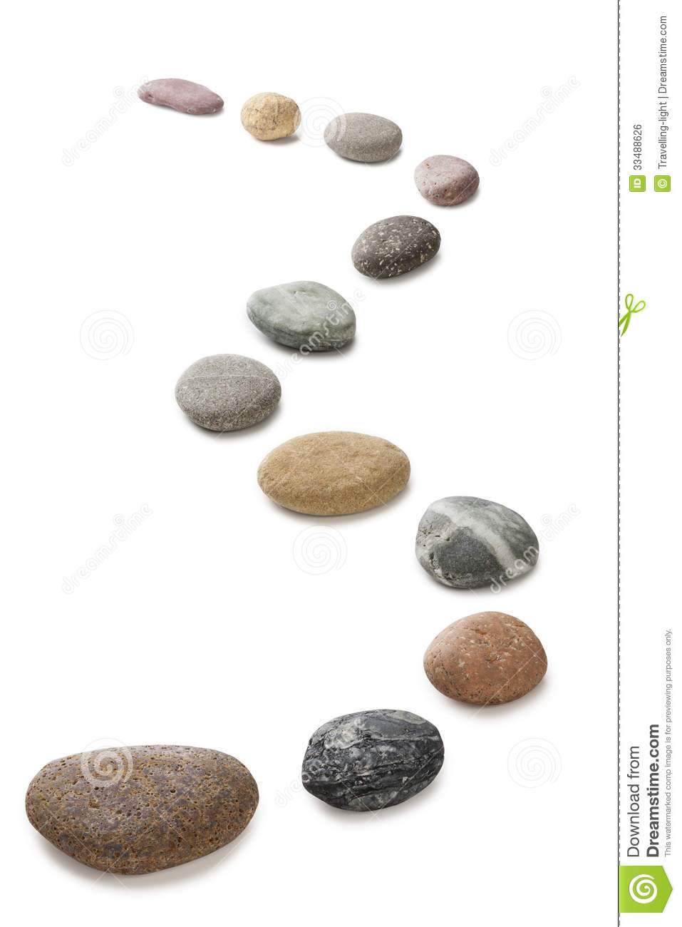 Pebbles In A Line Royalty Free Stock Image Image 33488626