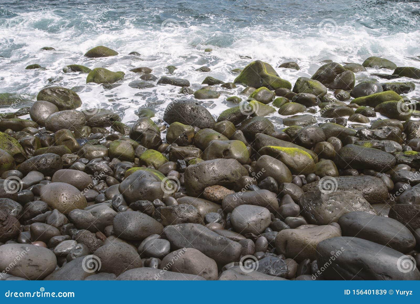Pebbles ocean shore