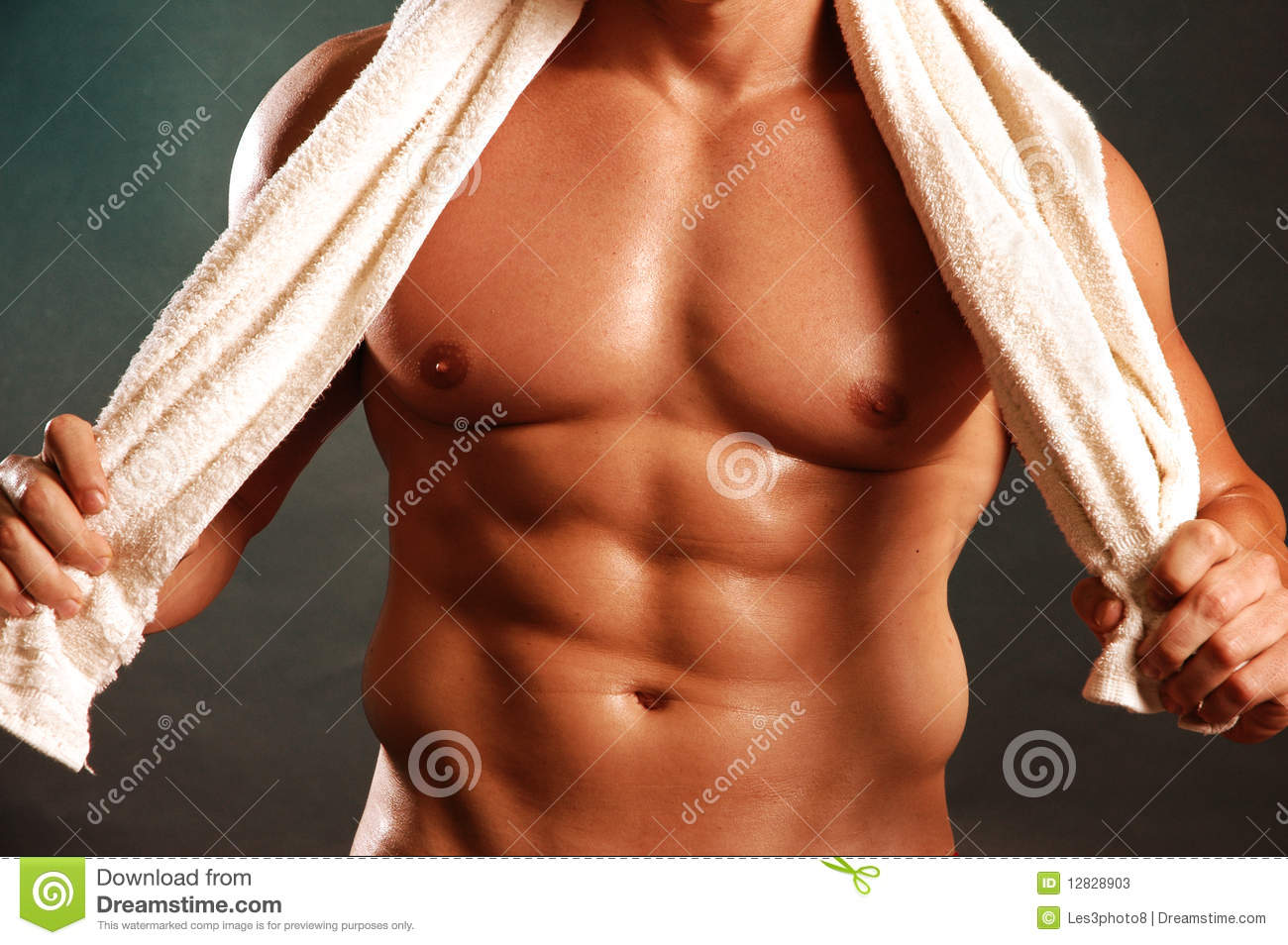 Pec and abs with towel
