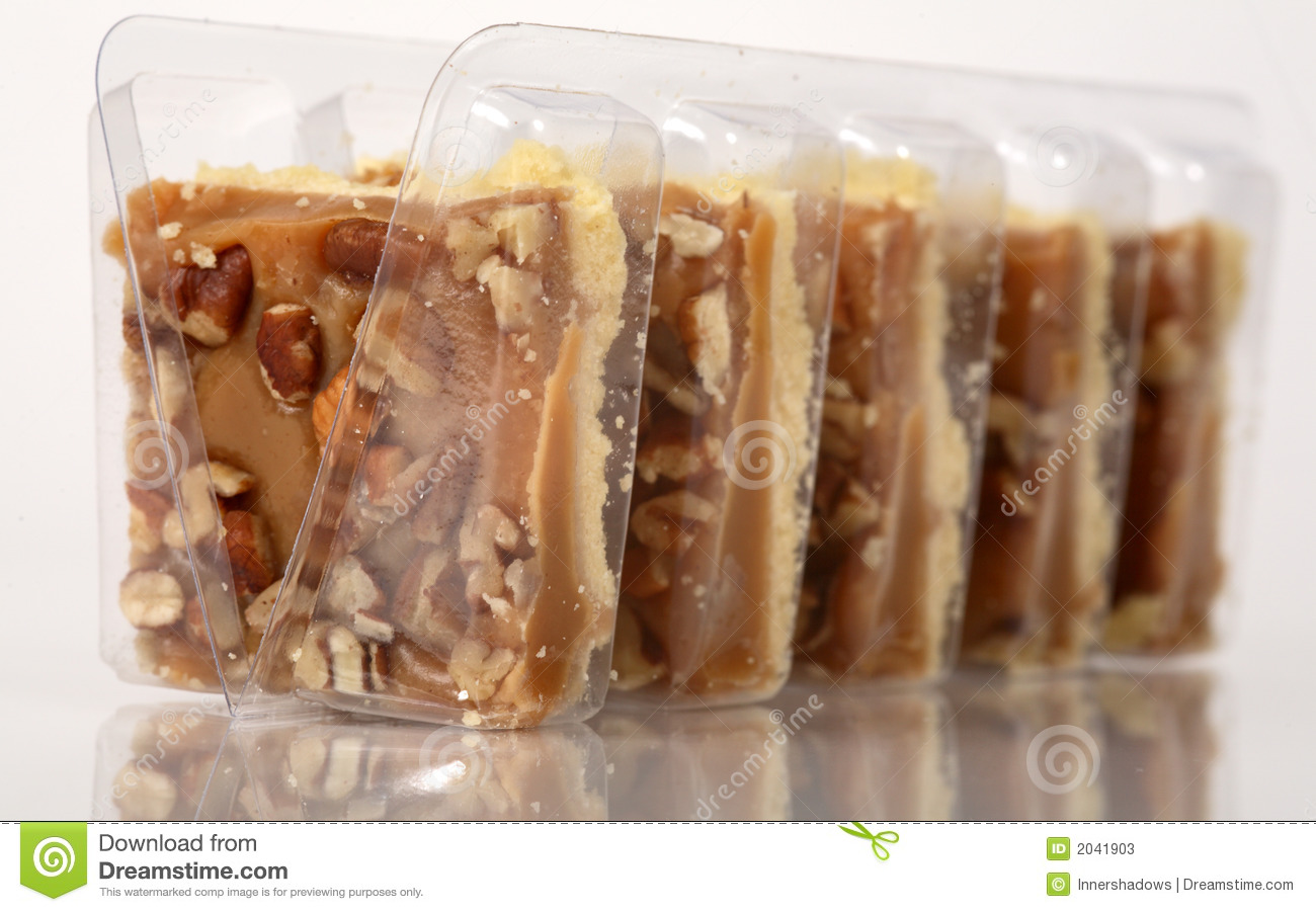 Pecan Caramel Shortbread Cakes Stock Photos - Image: 2041903