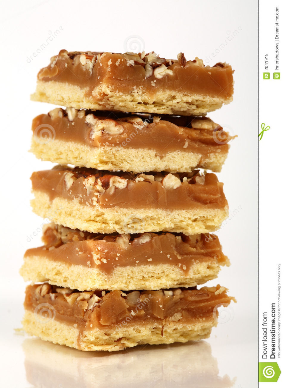 Pecan Caramel Shortbread Cakes Royalty Free Stock Images ...