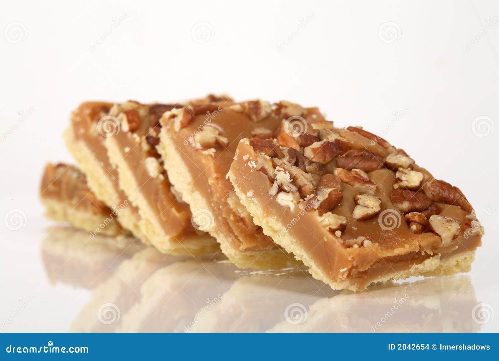 Pecan Caramel Shortbread Cakes Stock Images - Image: 2042654