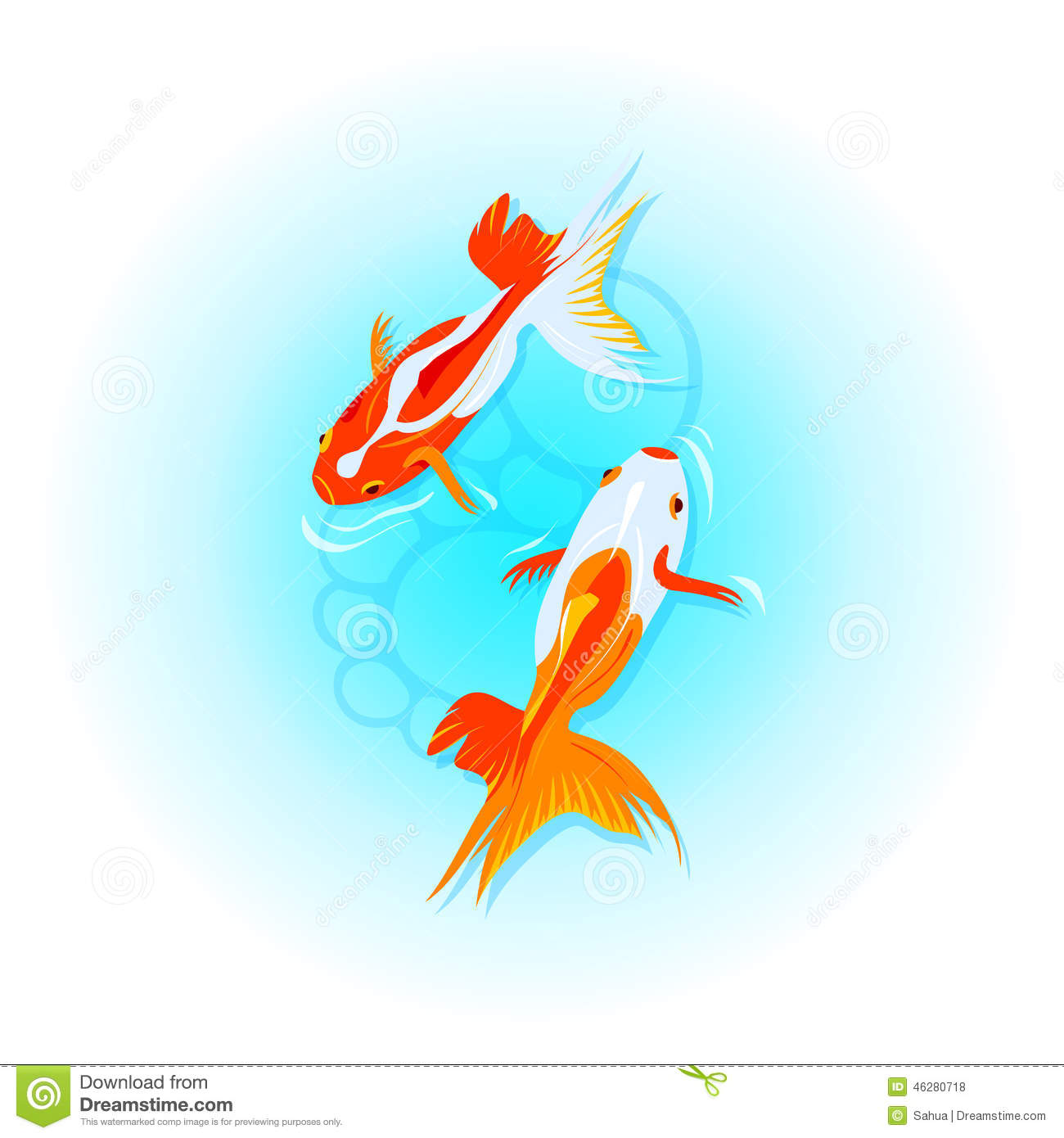 Peces de colores japoneses ilustraci n del vector for Imagenes de peces chinos