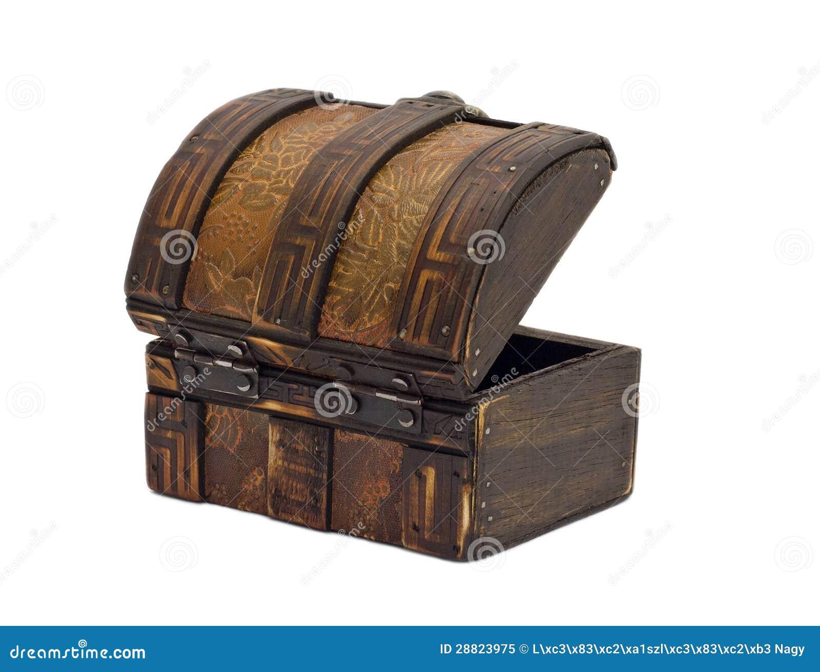 Pecho de madera antiguo